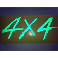 Reflective Vinyl 4 x 4 Decal