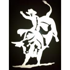 Reflective Vinyl Bull Rider Rodeo