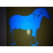 Reflective Vinyl Clydesdale Heavy Horse