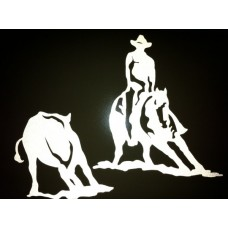 Reflective Vinyl Cutting and Rider Horse Decal