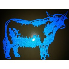 Reflective Vinyl Highland Cattle