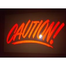 Reflective Vinyl Caution