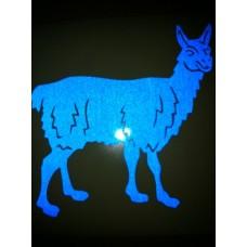 Reflective Vinyl Llama
