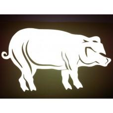 Reflective Vinyl Pig