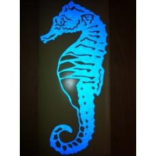 Reflective Vinyl Seahorse