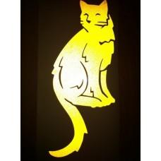 Reflective Vinyl Cat