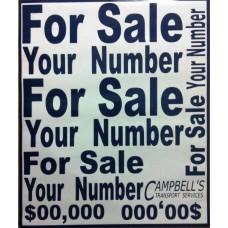 Custom Vinyl For Sale Signs (Med Size Pack)